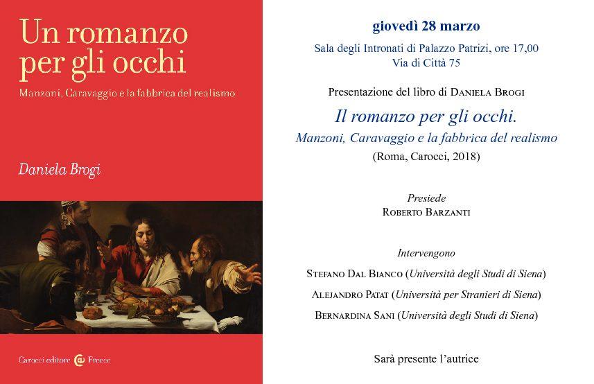 """Presentazione del libro """"Il romanzo per gli occhi. Manzoni, Caravaggio e la fabbrica del realismo"""""""