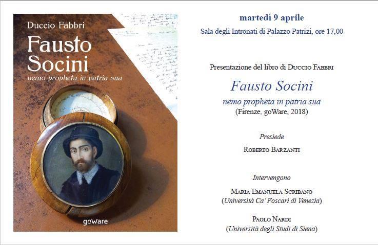 """Presentazione del libro """"Fausto Socini nemo propheta in patria sua"""""""