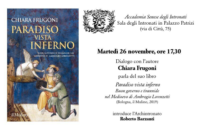 """""""Paradiso vista inferno"""" di Chiara Frugoni"""