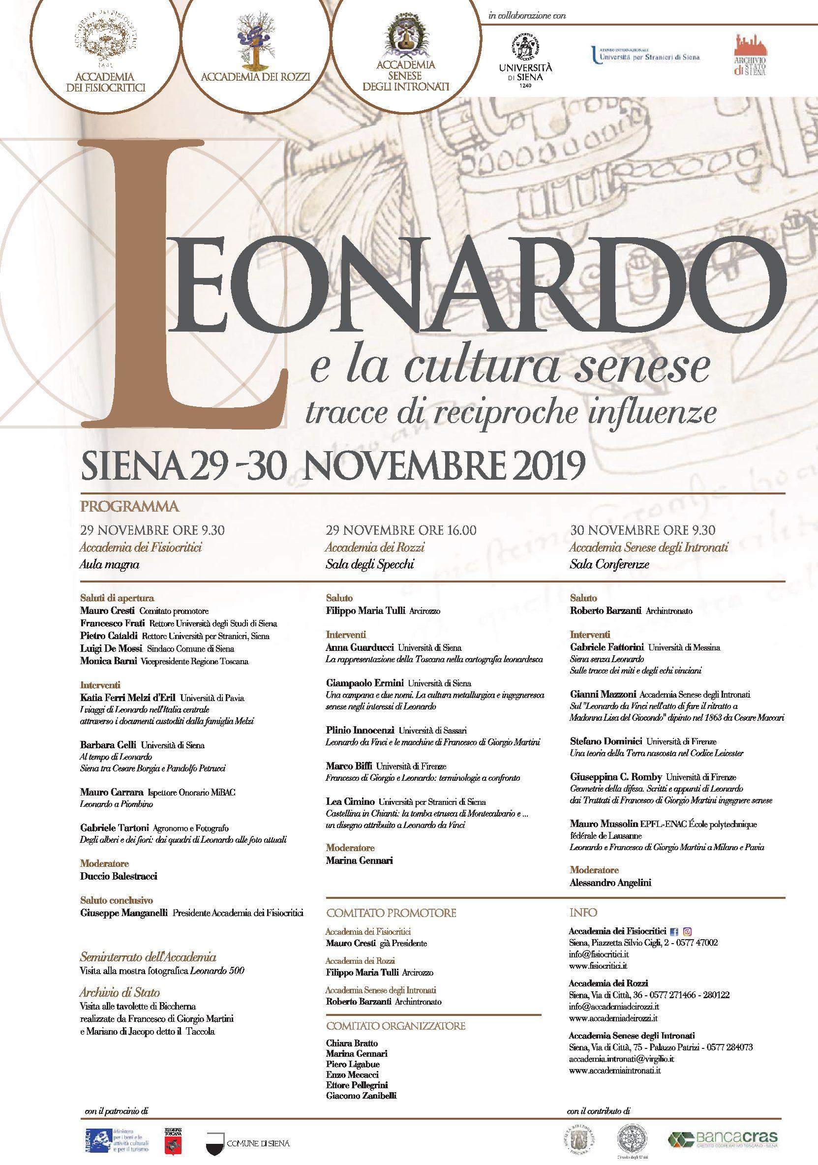 Leonardo e la cultura senese. Tracce di reciproche influenze