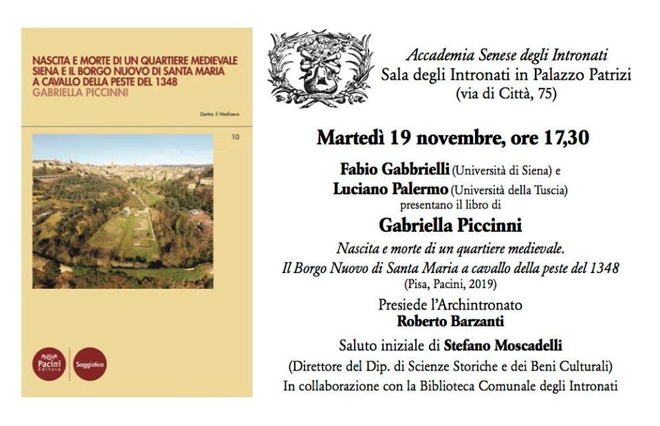 """Presentazione del volume """"Nascita e morte di un quartiere medievale"""" di Gabriella Piccinni"""