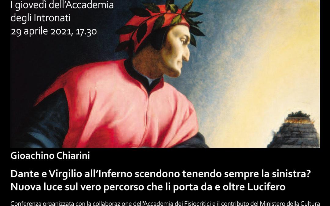 """Conferenza del prof. Chiarini su """"Dante e Virgilio all'inferno.."""""""