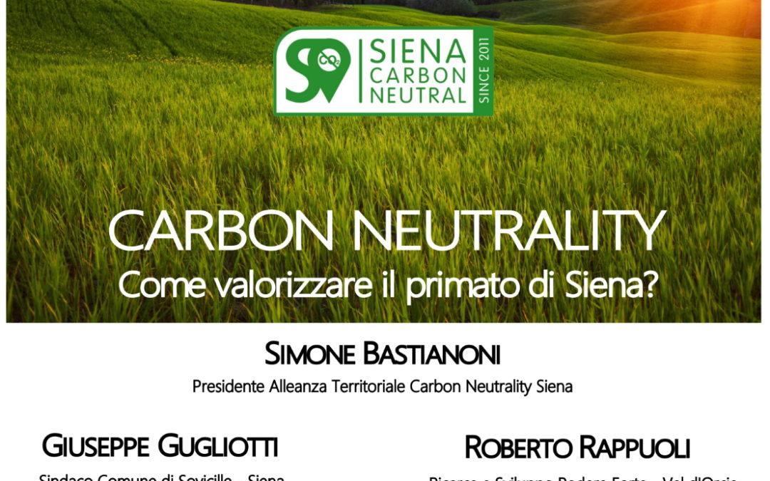 Accademia dei Fisiocritici: Carbon neutrality: come valorizzare il primato di Siena?   Tavola rotonda