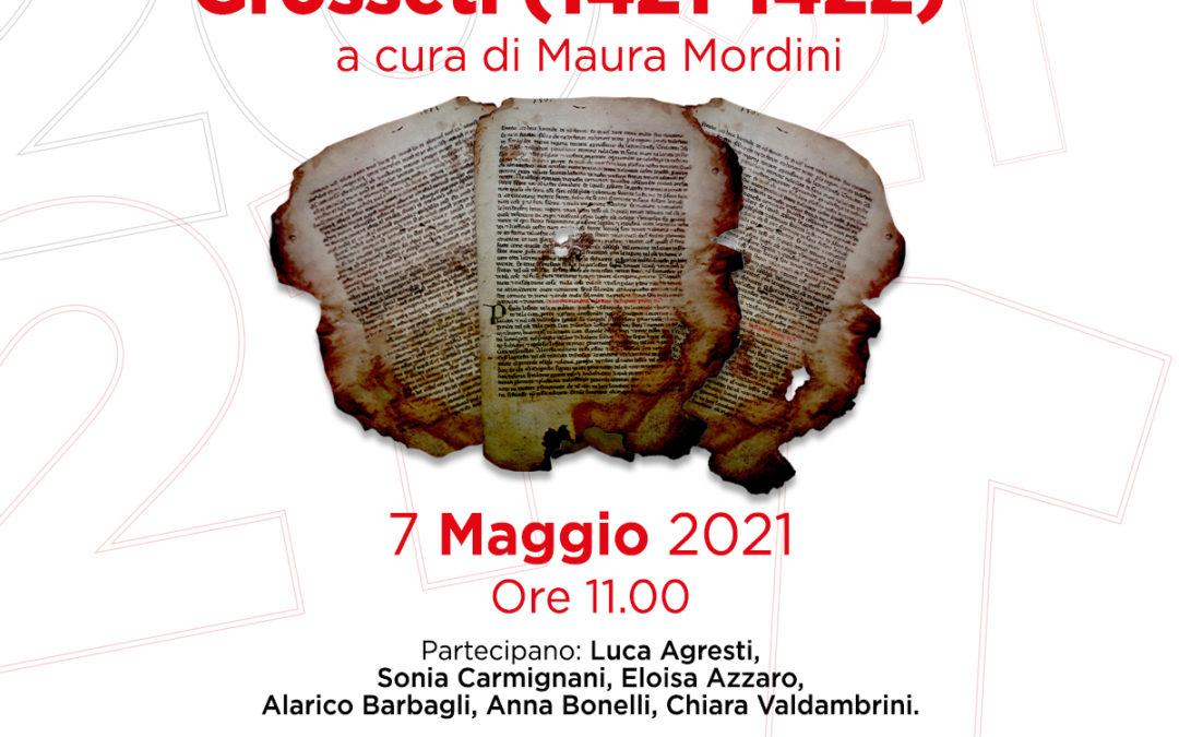 "Presentazione del volume ""Statuta Civitatis Grosseti 1421-1422"